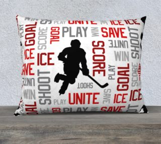 """For the Love of Hockey - Red Pillow Case - 26""""x20"""" preview"""