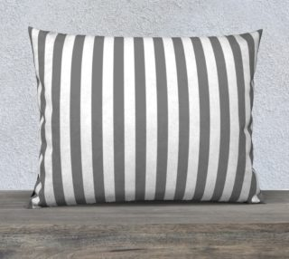 Aperçu de Medium Grey and White Stripes