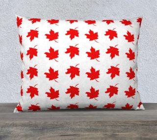 Aperçu de Red Maple Leaf Large Pillow