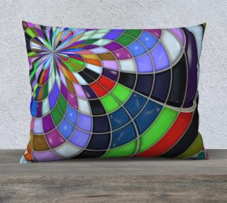 Trendy Multicolored Kaleidoscope Pattern Throw Pillow preview