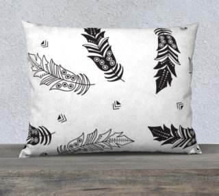 Black & White Feather Pillow Case preview