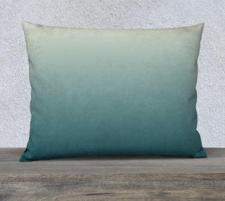 Cream to Green Pillow Case 26 x 20 preview