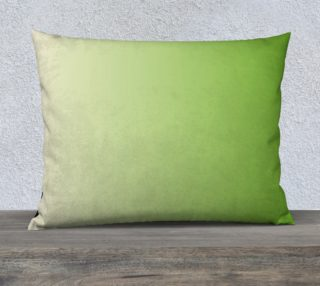 Lime Green and Cream  Rectangle Pillow Case 26 x 20 preview