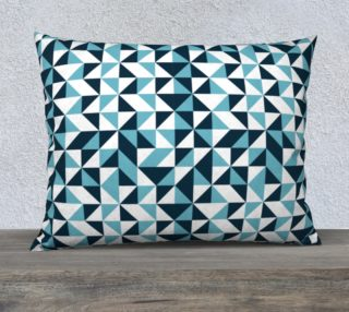 Blue Triangles 26x20 Pillow Case preview