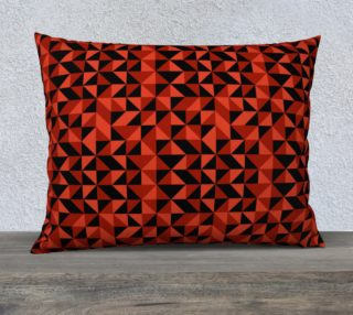 Red Triangles 26x20 Pillow Case preview