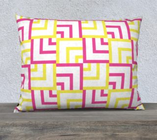 Pink and Yellow Squares 26x20 Pillow Case preview