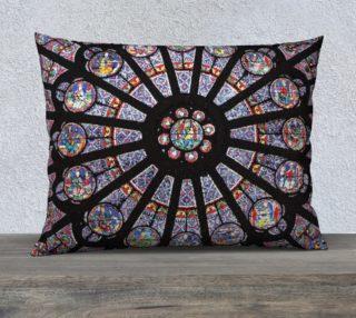 """Rose South Window, Notre Dame Paris 26"""" x 20"""" Decorative Pillow Case preview"""
