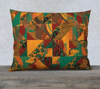 "Abstract Safari Print 26"" x 20"" Decorative Pillow Case preview"