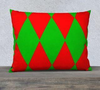 Christmas Harlequin Diamond 26/20 Pillow CAse preview