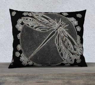 Dragonfly Deco Glow 26x20 Pillow Case preview