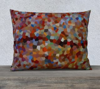 Red Brown Line Mosaic Pillow Case 26 x 20 preview