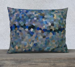Blue Line Mosaic Pillow Case Rectangle 26 x 20 preview