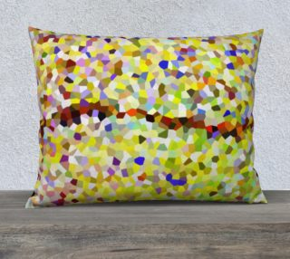 Yellow Line Mosaic Pillow Case Rectangle 26 x 20 preview