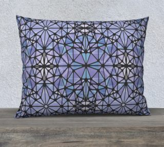 """Purple and Blue Kaleidoscope 26"""" x 20"""" Decorative Pillow Case preview"""