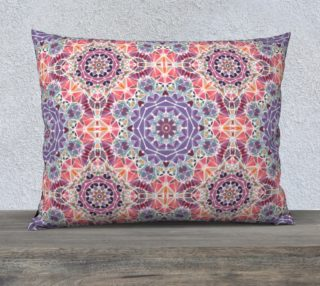 """Purple and Pink Kaleidoscope 26"""" X 20"""" Decorative Pillow Case preview"""