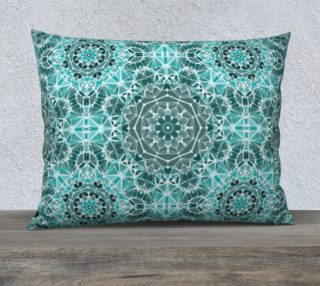 """Turquoise & Gray Kaleidoscope 26"""" x 20"""" Decorative Pillow Case preview"""