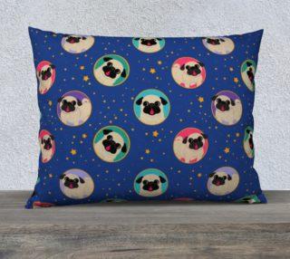 """Aperçu de Pugs in Stars & Sky 26"""" x 20"""" Pillowcase"""