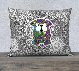 "Aperçu de Pug Doodle Design 26"" x 20"" Pillow Cover"