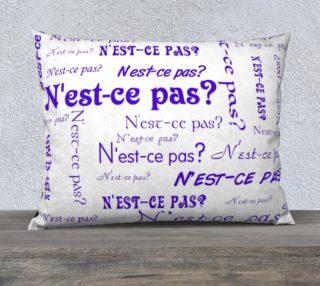 Purple N'est-ce Pas Pillow Case Style3 preview