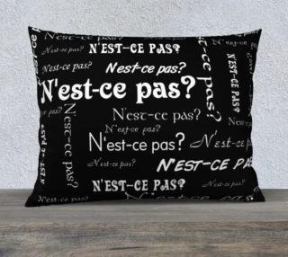 White N'est-ce Pas Pillow Case Style3 preview
