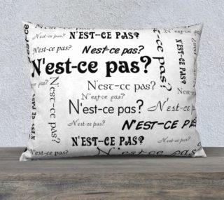 N'est-ce Pas Pillow Case Style3 preview