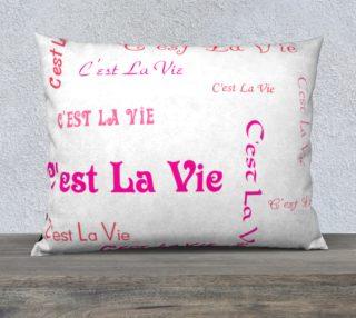 Fuchsia C'est la Vie Pillow Case Style3 preview