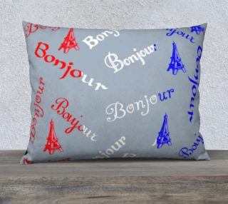 French Flag Bonjour Pillow Case Style3 preview