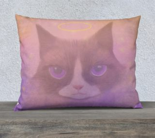"Cosmic Cat Pillow 26"" x 20"" preview"