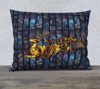Aperçu de Adopted Ancestors: Blue & Gold - 26x20 Pillow