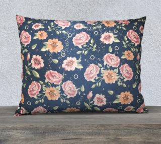 Vintage flowers rectangular pillow preview
