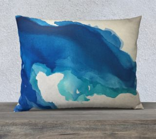 Breathe Into Blue Pillow preview
