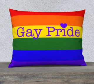"""Gay Pride Love Pillow Case 26"""" x 20"""" preview"""