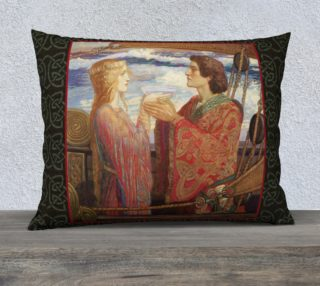 "Aperçu de Tristan and Isolde - 26"" x 20"" Pillow"
