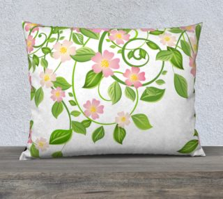 """Serene Floral Forest White Pillow Cover 26"""" X 20"""" preview"""