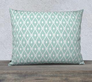 Mint Trellis Art Deco Pillow preview