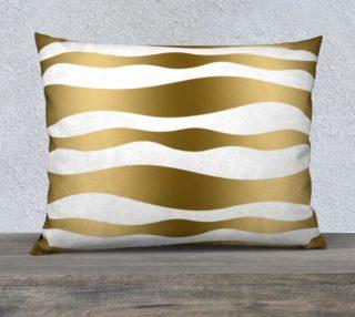 Aperçu de Gold Zebra Stripes White background