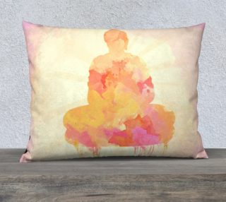 Yellow Pink Buddha Watercolor preview