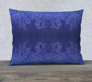 Blue Lace & Watercolor Pillow preview