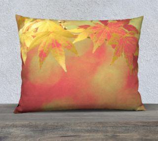 Festive Red Golden Autumn Maple Leaves preview