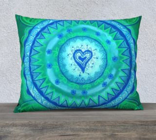 Aperçu de Heart Mandala Pillowcase Large