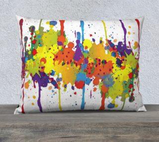 Aperçu de CRAZY multicolored double RUNNING SPLASHES pillow 26x20