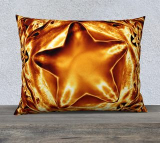 Elegant Shiny Copper Gold Star Pillow preview