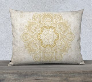 Mandala in Golden Yellow and Cream preview