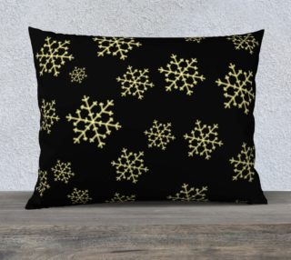 Golden Snowflakes Pillow Case preview