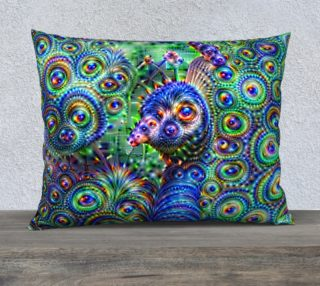 Brilliant Jeweled Peacock Pillow Case preview