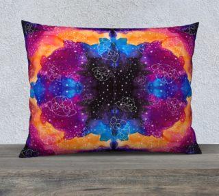 "Aperçu de Pug Constellations Pink Purple Orange 26"" x 20"" Pillow"