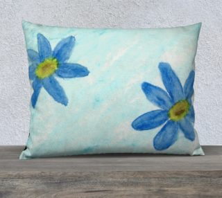 Simply Blue Flowers Pillow Case Style3 preview