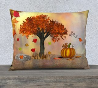 Autumn Squirrel Scene Pillow Case preview