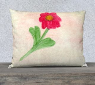 Red Daisy Pillow Case Style3 preview
