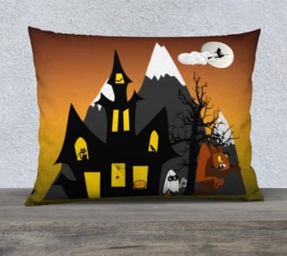 Halloween Scene Pillow Case preview